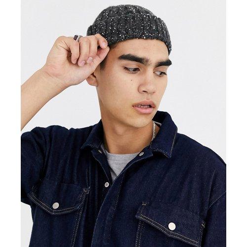 Premium - Petit bonnet de pêcheur en mélange de laine et maille torsadée - Antracite - ASOS DESIGN - Modalova