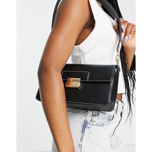 PREMIUM - Sac porté épaule en cuir avec surpiqûres contrastantes sur le dessus - ASOS DESIGN - Modalova