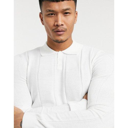 Pull col roulé en tricot à larges côtes - Blanc - ASOS DESIGN - Modalova