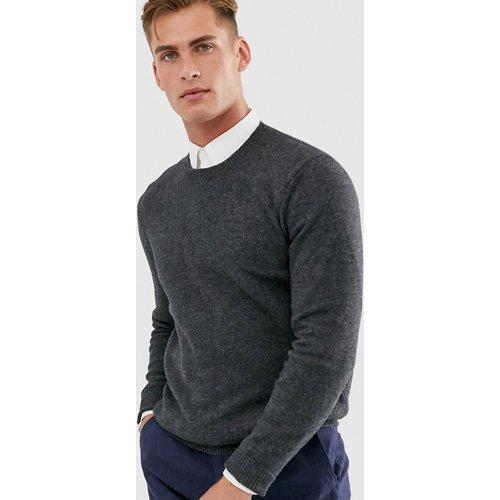 Pull en laine d'agneau - Anthracite - ASOS DESIGN - Modalova