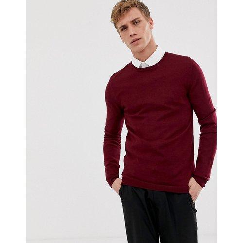 Pull moulant en laine mérinos - Bordeaux - ASOS DESIGN - Modalova
