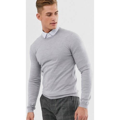 Pull moulant en laine mérinos - clair chiné - ASOS DESIGN - Modalova