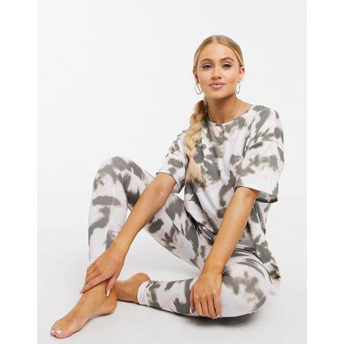 Pyjama t-shirt et legging fini tie-dye - ASOS DESIGN - Modalova