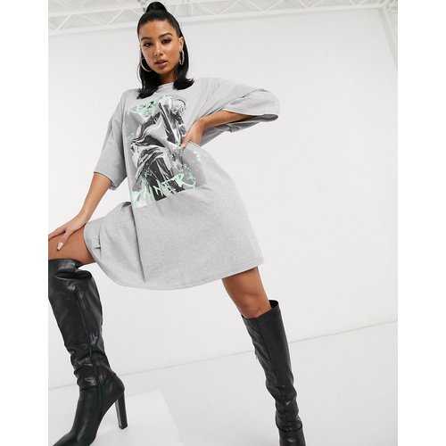 Rebel Sinner - Robe t-shirt oversize courte - ASOS DESIGN - Modalova