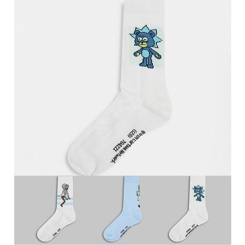 Rick & morty - Lot de 3 paires de chaussettes de sport à motifs - ASOS DESIGN - Modalova