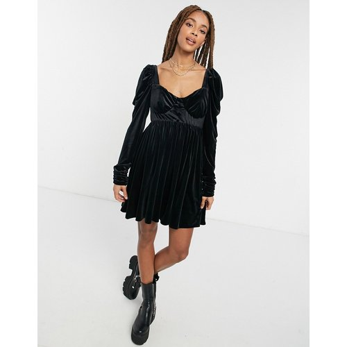 Robe babydoll courte en velours - ASOS DESIGN - Modalova