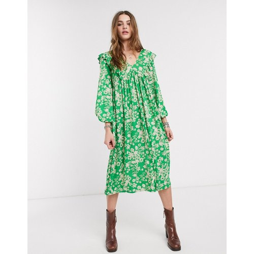 Robe babydoll mi-longue à fleurs - ASOS DESIGN - Modalova