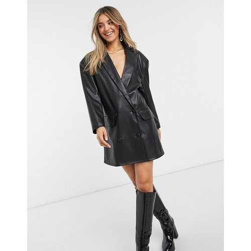 Robe blazer courte aspect cuir - ASOS DESIGN - Modalova