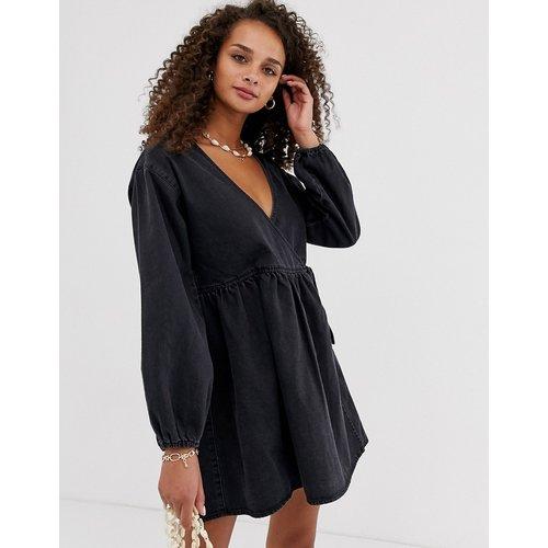 Robe blouse courte en jean - ASOS DESIGN - Modalova