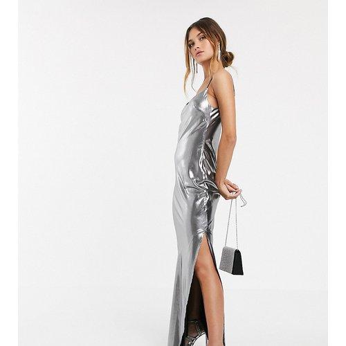 Robe caraco longue métallisée - ASOS DESIGN - Modalova