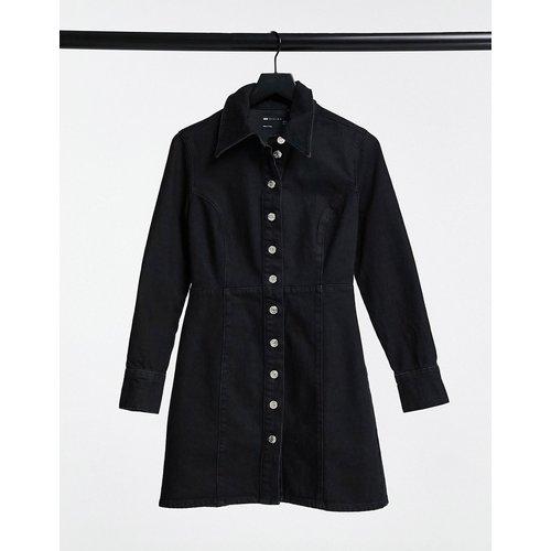 Robe chemise ajustée en jean - ASOS DESIGN - Modalova