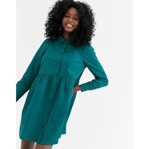 Robe chemise babydoll courte en coton - forêt - ASOS DESIGN - Modalova