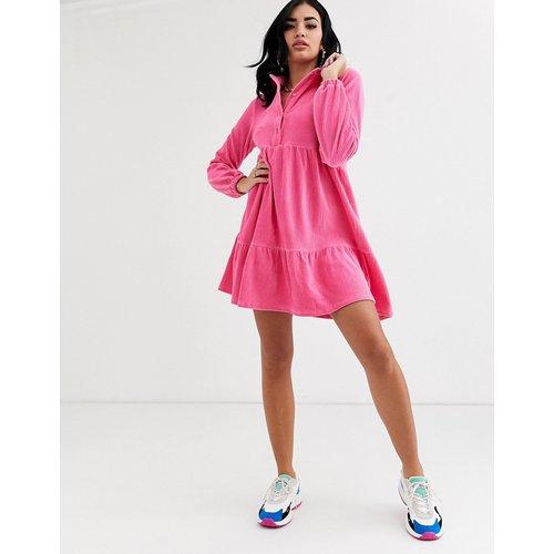 Robe chemise babydoll courte en velours côtelé - ASOS DESIGN - Modalova