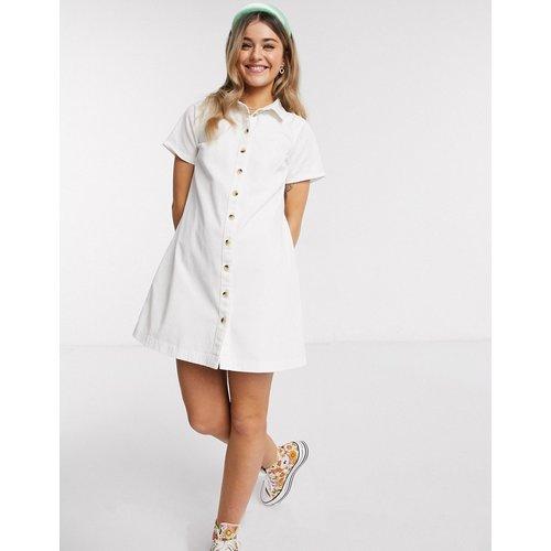 Robe chemise babydoll en jean souple - ASOS DESIGN - Modalova