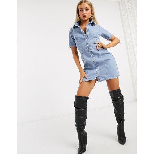 Robe chemise courte à coutures structurées - ASOS DESIGN - Modalova