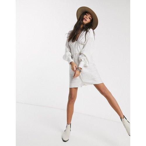 Robe chemise courte effet corset - ASOS DESIGN - Modalova