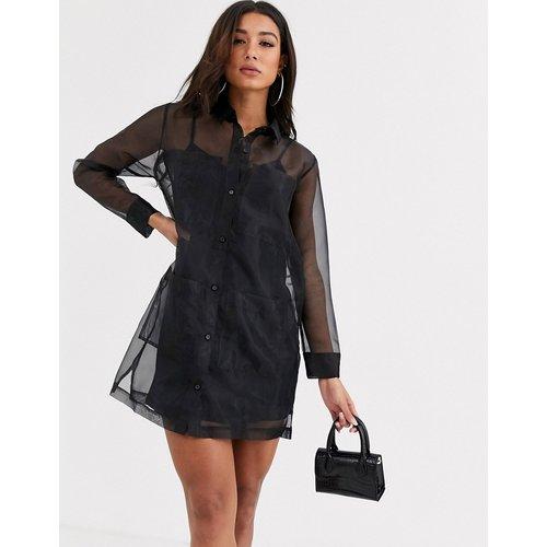 Robe chemise courte en organza - ASOS DESIGN - Modalova