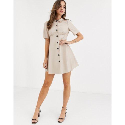 Robe chemise courte en similicuir - ASOS DESIGN - Modalova