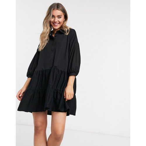 Robe chemise courte étagée - ASOS DESIGN - Modalova