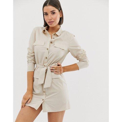 Robe chemise courte fonctionnelle en coton avec ceinture - ASOS DESIGN - Modalova