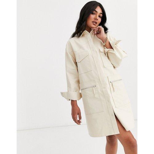Robe chemise courte fonctionnelle en sergé - ASOS DESIGN - Modalova