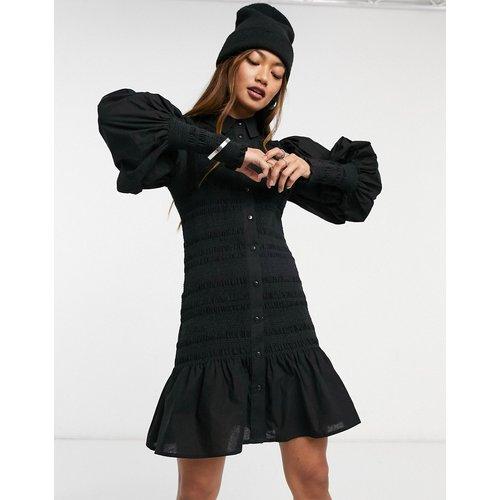 Robe chemise courte froncée - ASOS DESIGN - Modalova