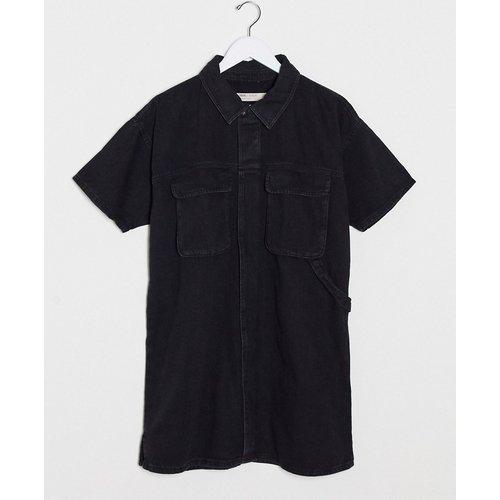 Robe chemise droite en jean - ASOS DESIGN - Modalova