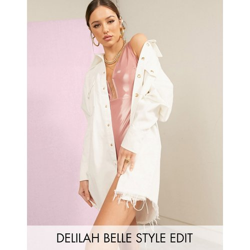 Robe chemise en jean oversize - ASOS DESIGN - Modalova