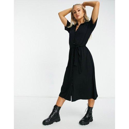 Robe chemise mi-longue boutonnée - ASOS DESIGN - Modalova