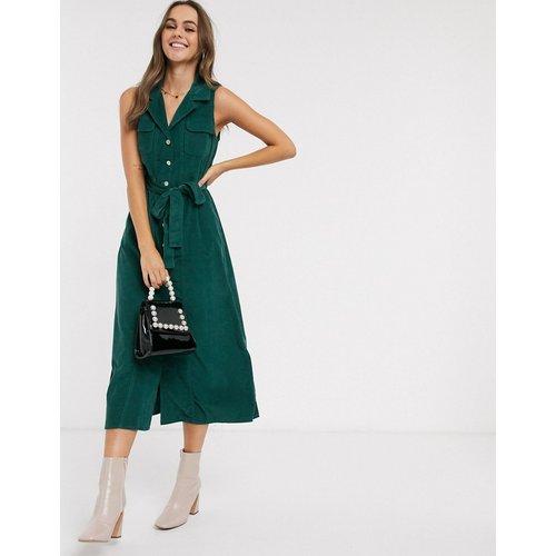 Robe chemise mi-longue en velours côtelé - ASOS DESIGN - Modalova
