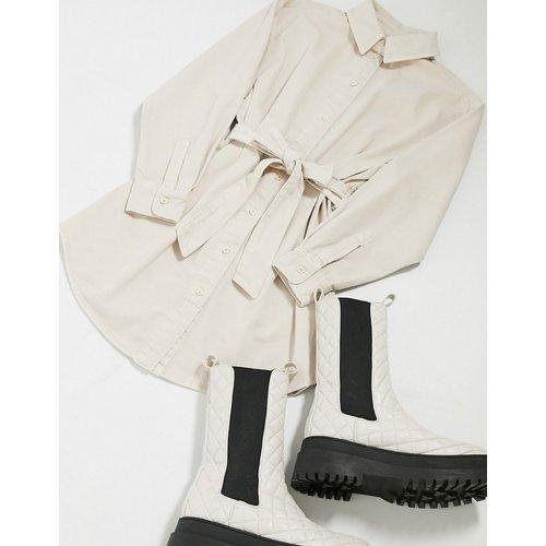 Robe chemise oversize en jean avec ceinture - ASOS DESIGN - Modalova