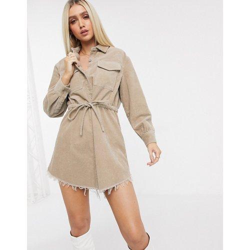 Robe chemise oversize en velours côtelé - ASOS DESIGN - Modalova