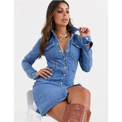 Robe chemise structurée en jean - ASOS DESIGN - Modalova
