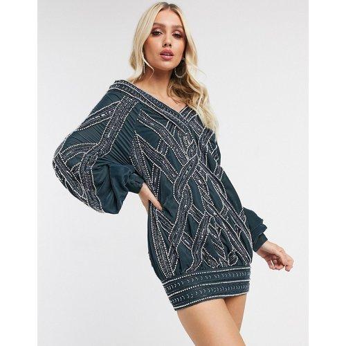 Robe courte ample oversize en velours avec oeuvre torsadée - ASOS DESIGN - Modalova
