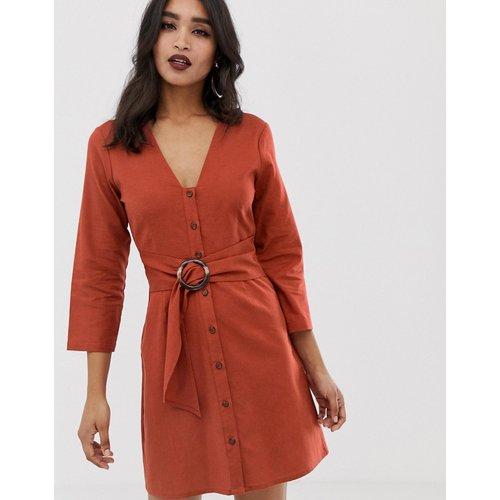 Robe courte casual boutonnée avec ceinture - ASOS DESIGN - Modalova