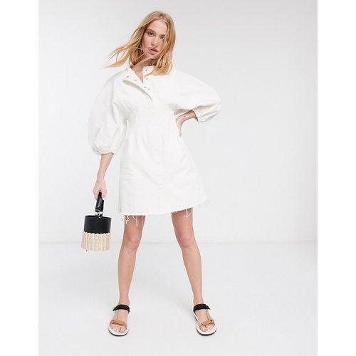 Robe courte en jean avec contours - ASOS DESIGN - Modalova