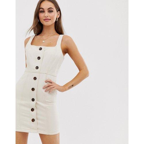 Robe courte en jean boutonnée - ASOS DESIGN - Modalova