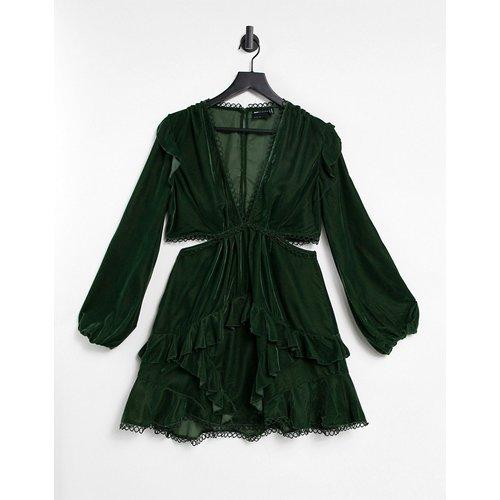 Robe courte en velours avec bordures ornées de cercles - ASOS DESIGN - Modalova