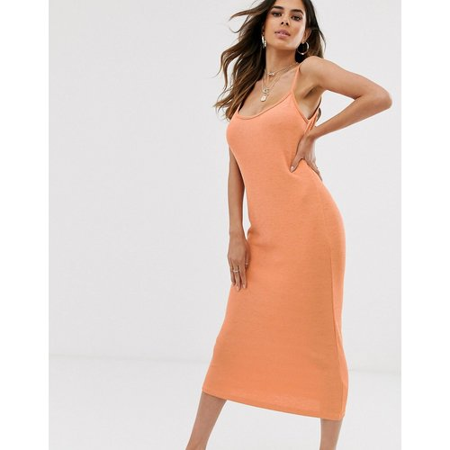 Robe d'été caraco mi-longue - Orange - ASOS DESIGN - Modalova