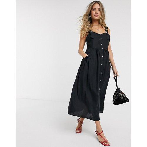 Robe d'été mi-longue boutonnée façon salopette - ASOS DESIGN - Modalova