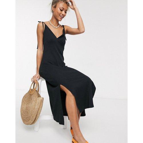 Robe d'été mi-longue caraco côtelée - ASOS DESIGN - Modalova