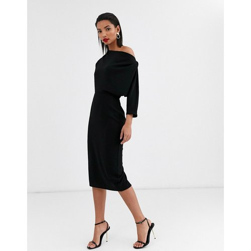 Robe fourreau mi-longue à épaule tombante  - ASOS DESIGN - Modalova