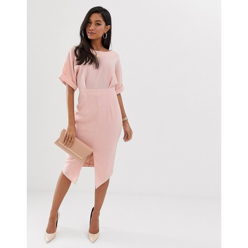 Robe fourreau mi-longue - Blush - ASOS DESIGN - Modalova