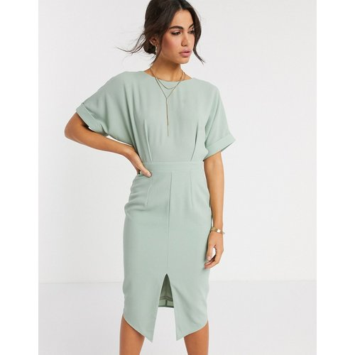 Robe fourreau mi-longue - sauge - ASOS DESIGN - Modalova