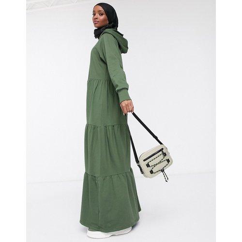 Robe hoodie longue avec jupe volantée - ASOS DESIGN - Modalova