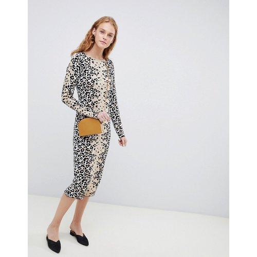 Robe léopard en maille fine - ASOS DESIGN - Modalova