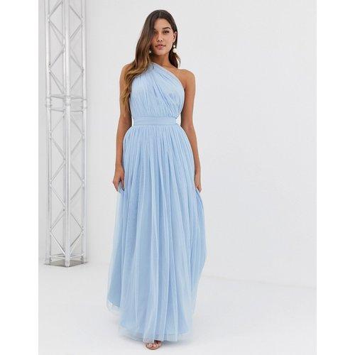 Robe longue asymétrique en tulle - ASOS DESIGN - Modalova