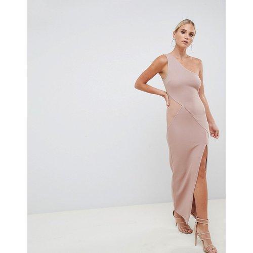Robe longue asymétrique minimaliste en maille côtelée - ASOS DESIGN - Modalova