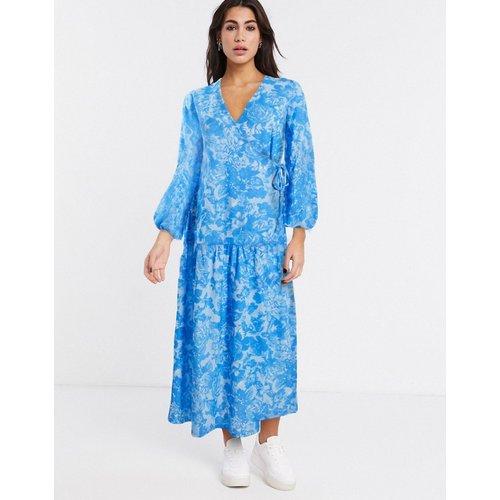 Robe longue babydoll croisée - fleuri - ASOS DESIGN - Modalova