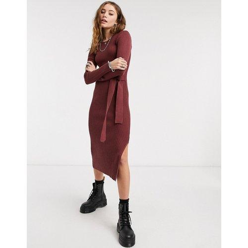 Robe longue côtelée en maille - ASOS DESIGN - Modalova